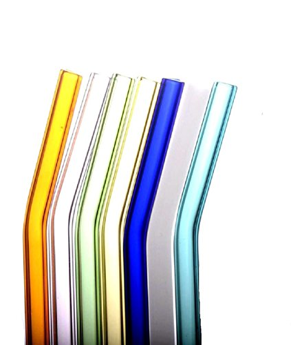 Feccile 7Pcs Reusable Glass Straws for Drinking by Feccile Kitchen (Image #9)