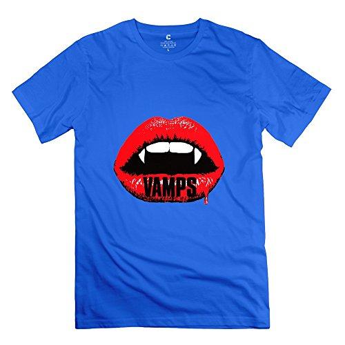 C-DIY Men's T-shirts Unique The Vamps Tshirt XS RoyalBlue