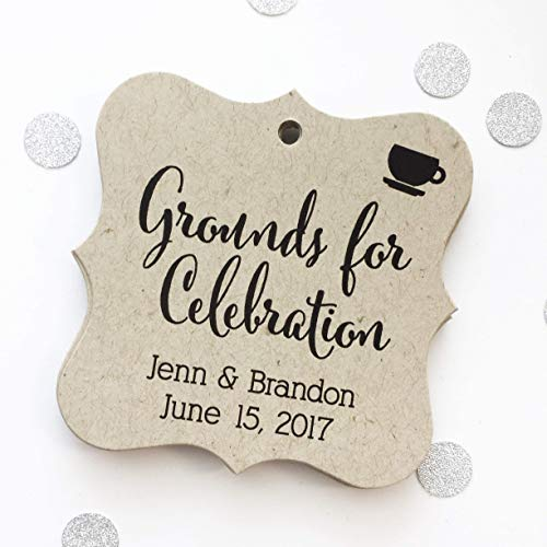 - Grounds for Celebration Kraft Favor Tags, Coffee Cup Wedding Favor Tags, Wedding Hang Tags (FS-092-KR)