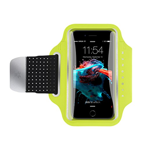Phone Armband for iPhone8 Plus, 7 Plus, 6, Samsung Galaxy Note 8, S8, Google Pixel, 5-6 Inch Reflective Running Workout Exercise Arm Phone Holder, Key/Card Holder + Free Extender ()