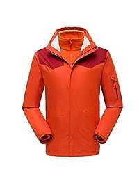 CIKRILAN Mens Outdoor Warm Fleece 3in1 Jacket Windpoof Breathable Sports Coats