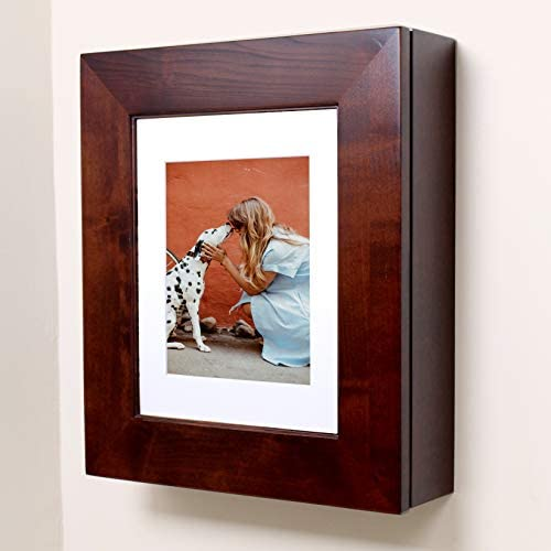 Fox Hollow Furnishings Picture Perfect Medicine Cabinet – a Wall-Mount Picture Frame Medicine Cabinet Espresso