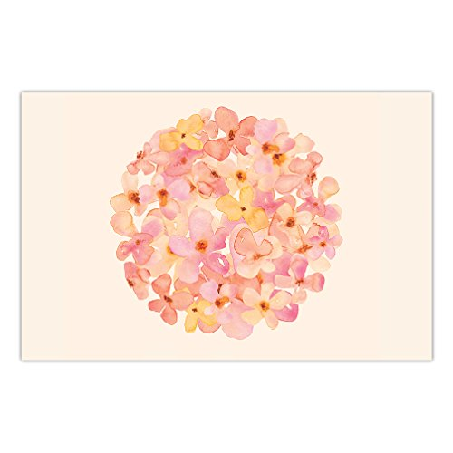 Delicate Watercolor Blossoms Paper Placemats 25 Count Bridal Shower Engagement Birthday Parties Easy Cleanup Disposable Event Decor Kitchen Dining Table Setting 17