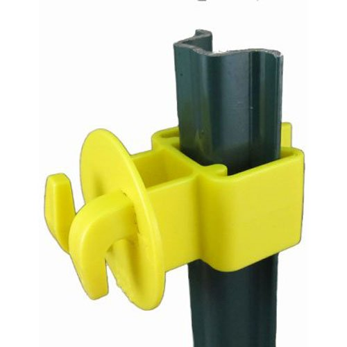 Dare Products Electric Fence - Dare Products Yellow Garden U-Post Insulator, 25 Pack