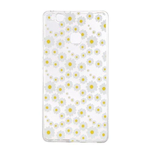 Funda para Huawei P9 Lite , IJIA Transparente Pizza TPU Silicona Suave Cover Tapa Caso Carcasa Cubierta para Huawei P9 Lite HX57