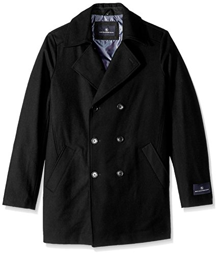 Breasted Double Captain Marx Tall Black Peacoat and Schaffner Men's Big Hart TBpH807
