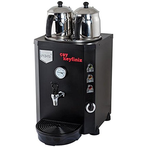 System Brewing Urn - BLACK COLOR 220V Commercial Kitchen Equipment Hot Tea Brewer Maker Machine Double Teapot Boiler Urn Spout Percolator Dispenser Brewing System Beverage