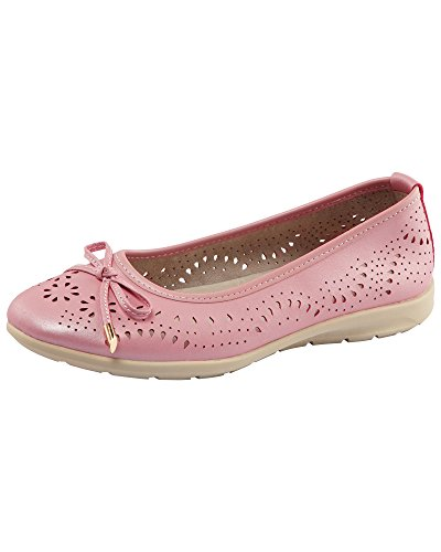 Ladies Slip Comfort 4 Traders Womens on E Pink Fit Shoes Cotton Cushioned EUwXBxnUq