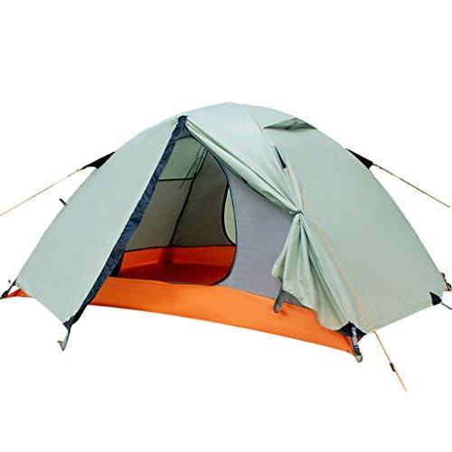 物足りないゆり耐えられない屋外テントダブルダブルドアオープンレインキャンプテントは、冬キャンプ折り畳みダブルバーテントカスタム機器を設定する (色 : パープル ぱ゜ぷる)