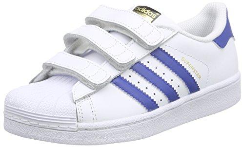 adidas Superstar Foundation CF C, Zapatillas de Deporte Unisex Niños Varios Colores (Ftwr White/Eqt Blue S16/Eqt Blue S16)