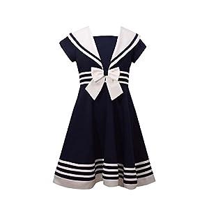 Bonnie Jean Girls' Big Fit and Flare Nautical Dress
