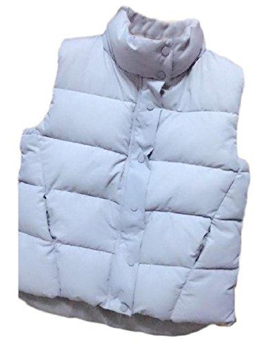 あからさまテロリストうるさいVITryst 婦人用のシンプルなカラー固体薄フグジャケット?ベストの上に立って