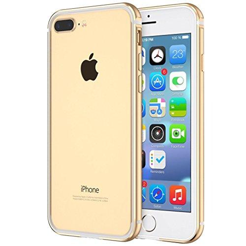 Aluminum Metal Bumper Case for Apple iPhone 7 (Gold) - 2