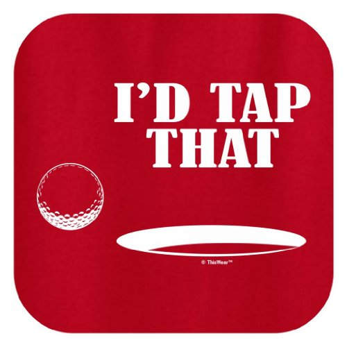 I'd Tap That Ladies T-Shirt Medium Red