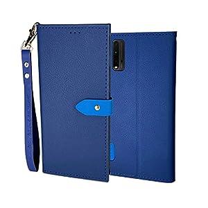 DDPTEK Luxury Flip Cover for Mi Redmi 9 Power (Blue)