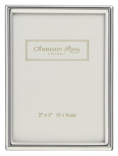 Addison Ross, Essentials Photo Frame, Silver Plate, 2 x 3 Inches