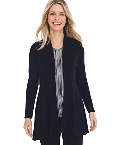 Chico's Women's Travelers Classic High-Low Jacket Size 16/18 XL (3) Black by Chico's