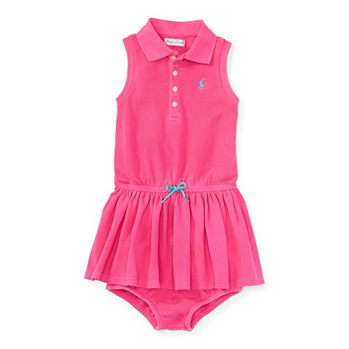 Baby Girl Polo Dress - Ralph Lauren Baby Girls Polo Dress & Bloomer Set (3 Months, Flo Hot Magenta)