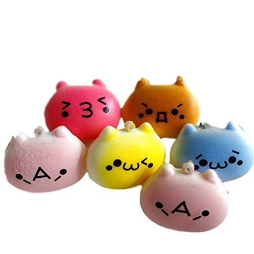 [1PC 4cm Cartoon Cat Squishy Charms Kawaii Buns Bread Cell Phone Key Bag Strap Pendant Squishes] (Homemade Penguin Costumes)
