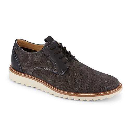 Dockers Mens Edison Smart Series Dress Casual Canvas Oxford Shoe with NeverWet, Black, 8.5 M