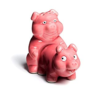 Salt And Pepper Shaker Set. Best For Restaurant, Cafe, Dining Room, Home Kitchen Table Kit. Naughty Pigs 3 x 2 x 3 inches 41ZqwKSDyFL