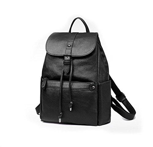Voyage Simple Dames Style à fonction Black Multi à Bandoulière Dos ZHXUANXUAN Sac College Sac Casual Zipper Mode ESwwqdB7