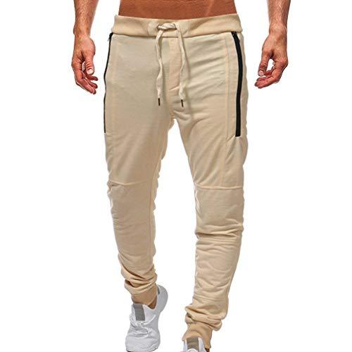 Bolawoo Khaki In Uomo Pantaloni Marca Di A Coulisse Jogging Cotone Elastici Con Da Mode Casual Sportivi fBqwTf
