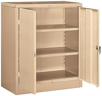Amazon Com Salsbury Industries Counter Height Storage Cabinet 42