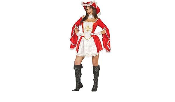 NET TOYS Elegante Disfraz de Mosquetero para Dama - Rojo-Blanco XS ...