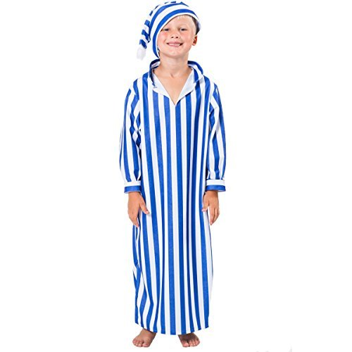 Night Gown and Cap Costume for Kids Scrooge Costume Halloween