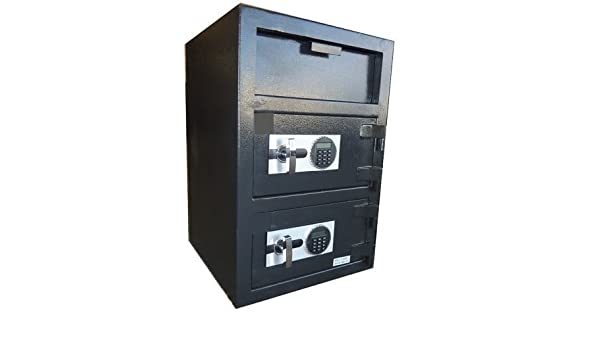 DS-3020EE Heavy Duty Electronic Dual Door Drop Safe W/Cash Drawer Storage. Only $749.99 #1 Seller