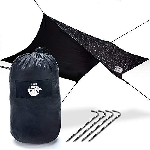 Legit Camping Rain Fly Camping Tarp Extra Large Hammock Tarp Hammock Tent Fits Double Hammocks - Adventure in Any Weather - Great for Backpacking, Traveling, Hiking - XL 10' - Durable, Easy Set Up [並行輸入品] B07R4V1QP6