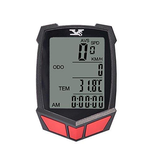 Wireless and Waterproof Bicycle Speedometer Black - 9