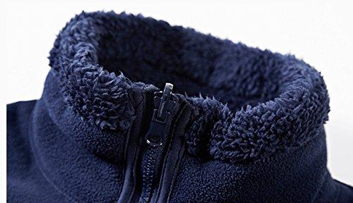 In Pile Giacca Da Classica Addensato black Con Cappotto Casual Cerniera xxxxxl Formale Uomo Caldo Lavoro wxt0xqI