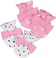 Gerber Baby Girl's Baby 2pk Mittens Girl Fox Accessory, Pink, 0-3 mo