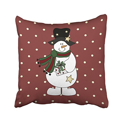 Emvency Throw Pillow Case Dec Xmas Cute Starry Snowman Throw Pillow Case Cushion Cover Case Pillowcases Square 18x18 inch (Starry Snowman)