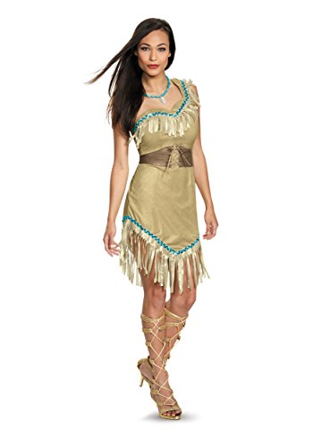 Pocahontas Halloween Costumes Women (Disguise Women's Pocahontas Deluxe Adult Costume, Multi, Medium)