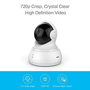 YI Dome Camera Pan/Tilt/Zoom Wireless IP Security Surveillance System 720p HD Night Vision (US Edition) from YI
