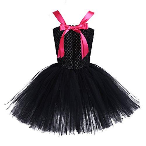 Filles Tiaobug Robe Tutu Robe Noire De Chat Princesse De Fantaisie Avec Bandeau Costume Anniversaire Robe De Soirée Cosplay