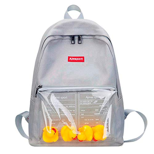Vertily Bag Premium Animal Durable Preschool Backpack Boy Girl, Cartoon Duck (Gray) by Vertily Bag
