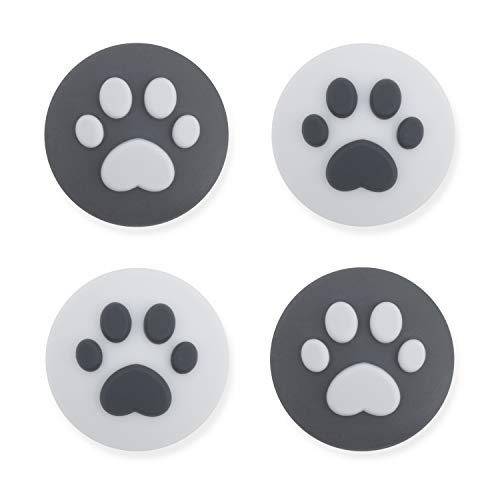 GeekShare 4PCS Silicone Cat Claw Joy Con Thumb Grip Set JoystickCaps Switch and Switch Lite Cover Analog Thumb Stick Grips (Cat Claw 10)