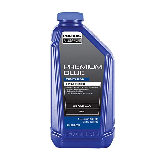 Polaris New OEM Premium Blue 2 Stroke Snowmobile Engine Oil