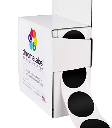 (ChromaLabel Round Target Pasters | 1,000/Dispenser Box (1 Inch,)