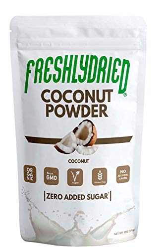 FreshlyDried Pure Coconut Powder, 6 Ounces - Best Superfruit to Add Healthy Fats to your Diets - Rich in Vitamins, Minerals & Protein - Non-Irradiated, Non-Contaminated, Non-GMO and Vegan