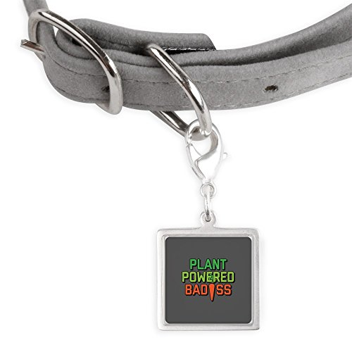 CafePress Plant Powered Badass - Small Square Pet Tag by CafePress