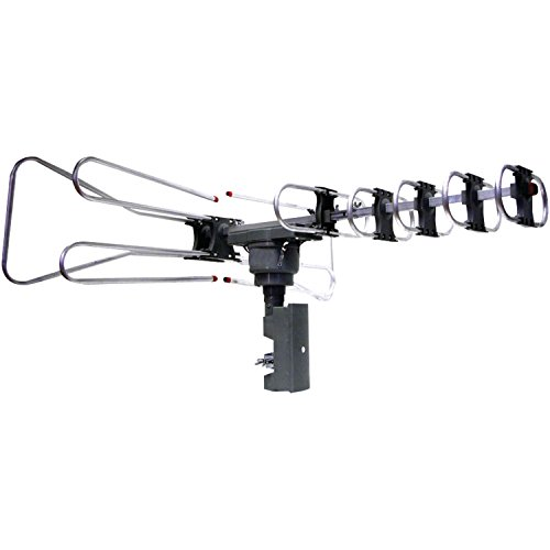 NAXA Electronics NAA-350 High Powered Amplified Motorized Outdoor Antenna Suitable For HDTV and ATSC Digital Television by Naxa Electronics
