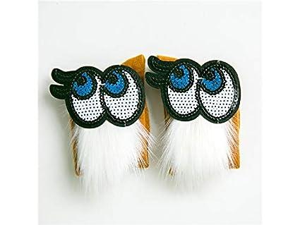 XDXDWEWERT Calcetines de algodón para niños Kids Spring Eyes Calcetines peludos Calcetines de tubo medio (
