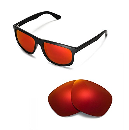 Walleva Replacement Lenses for Ray-Ban RB4147 60mm - Multiple Options (Fire Red Mirror Coated - - Rb4147 60