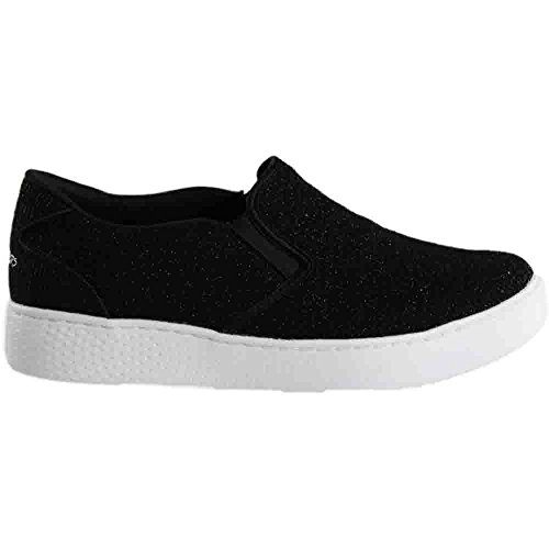 Skechers Shoe Super Women's Black White Cup Casual Magnolia wqFaxqg