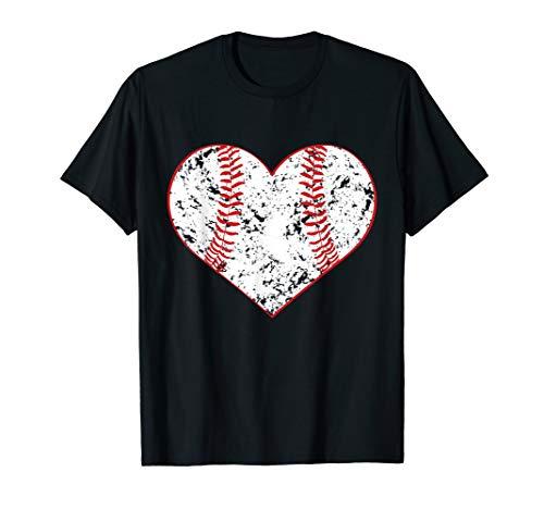 (Baseball Heart T Shirt, Gift for Softball Mom or Dad, Team )